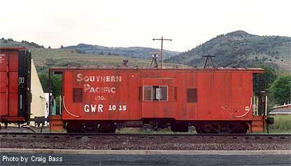 Great Western Railroad caboose, former Southern Pacific, in Lakeview, Oregon