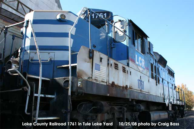 Lake County Railroad 1760 had some maintenance performed by Modoc Northern Railroad in the latter's Tule Lake Yard in Tulelake, CA before being forwareded to Union Pacific in Klamath Falls.